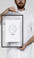 MOEBE | A4 FRAME (black) | A4 アルミフレームの商品画像
