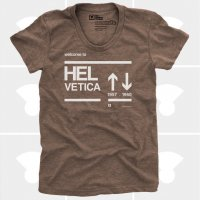 MEDIUM CONTROL | WELCOME TO HELVETICA | Tシャツ (brown) | レディースMサイズ