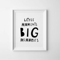 MINI LEARNERS | LITTLE MOMENTS BIG MEMORIES | A3 アートプリント/ポスター