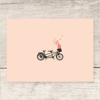 HAVEN PAPERIE | BICYCLE FOR TWO + HEARTS | グリーティングカード