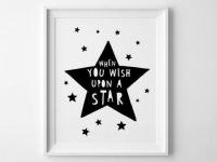 MINI LEARNERS | WHEN YOU WISH UPON A STAR | アートプリント/ポスター (50x70cm)