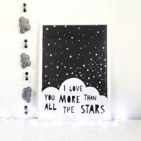 MINI LEARNERS | I LOVE YOU MORE THAN ALL THE STARS | アートプリント/ポスター (50x70cm)