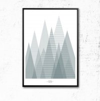 IHANNA HOME | FOREST POSTER | アートプリント/ポスター (50x70cm)