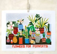 retrowhale | FLOWERS FOR PERVERTS | A3 アートプリント/ポスターの商品画像