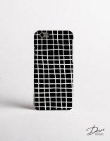 【ネコポス送料無料】DESSI DESIGNS | CROSS STRIPES / GRID (black) | iPhone 6ケースの商品画像