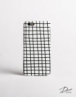 DESSI DESIGNS | CROSS STRIPES / GRID (white) | iPhone 6ケース