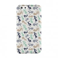 JENNY LEMON CO. | HOPPING HARES (mint & brown) | iPhone 6ケース