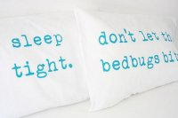 URBAN BIRD & CO. | TURQUOISE ON WHITE COTTON PILLOW CASE SET | 枕カバー/ピローケース(2枚セット)