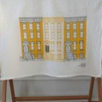 CLAUDIA PEASON | BROWNSTONES IN YELLOW TEA TOWEL | ティータオル