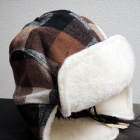 FRANK & GERTRUDE | Lumberjack Hat in Brown and Black Plaid | 茶x黒