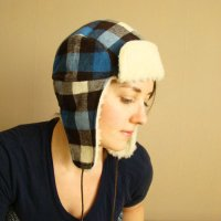 FRANK & GERTRUDE | Lumberjack Hat in Blue and Brown Plaid | 青x茶