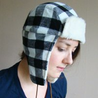 FRANK & GERTRUDE | Lumberjack Hat in Black and White Plaid | 黒x白