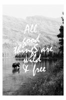 OHMYHOME | WILD AND FREE | A2 ポスター