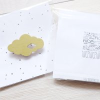 nicenicenice | WEATHER BROOCH CLOUD #2 (lime green) | ブローチ