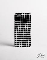 DESSI DESIGNS | CROSS STRIPES / GRID (black) | iPhone 7ケース