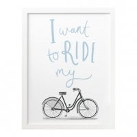 OLD ENGLISH CO. | RIDE MY BIKE PRINT - BIKE/CYCLING PRINT (storm/white background) | A3 アートプリント/ポスター