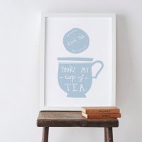 OLD ENGLISH CO. | MY CUP OF TEA PRINT (storm/white background) | A4 アートプリント/ポスター
