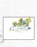 【SALE 30%OFF】TRINE HOLBAEK | A LITTLE PEACEFUL PLACE | アートプリント/ポスター (50cmx70cm)