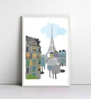 NICE MICE FOR YOU   PARIS EIFFEL TOWER #1   A4 アートプリント/ポスターの商品画像