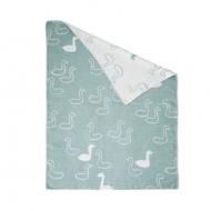 FINE LITTLE DAY | SWAN - GREEN/WHITE (white trim) | 起毛チャイルドブランケット【北欧 リネン キッチン インテリア シンプル おしゃれ】の商品画像