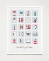 VANTO WORKS  | ICONIC COPENHAGEN (no.1009) | ポスター (50x70cm)