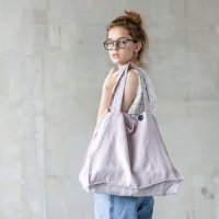 not PERFECT LINEN | LARGE LINEN TOTE BAG (ashes of rose) | トートバッグ