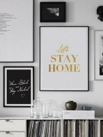 LOVELY POSTERS | LET'S STAY HOME (gold foil) | A3 アートプリント/ポスター【アウトレット】の商品画像