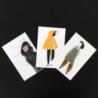 【SALE 20%オフ】BLANCA GOMEZ | WOMEN set of 3 POSTCARDS | ポストカード3枚セット