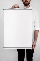 MOEBE | POSTER HANGER (black) | ポスターハンガー (50x70cm)の商品画像