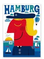 HUMAN EMPIRE   BLAUES HAMBURG POSTER   ポスター (50x70cm)の商品画像