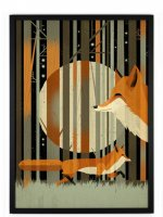 HUMAN EMPIRE | DIETER BRAUN | FOX IN THE NIGHT POSTER | ポスター (50x70cm)