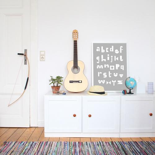 snug.studio | snug.abc - poster (light grey) | ポスター (50x70cm)【アウトレット】