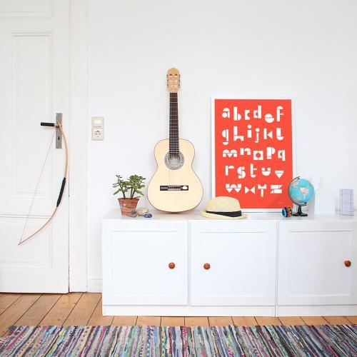 snug.studio | snug.abc - poster (red fox) | ポスター (50x70cm)【アウトレット】