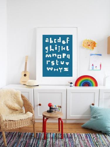 snug.studio | snug.abc - poster (blue sea) | ポスター (50x70cm)【アウトレット】