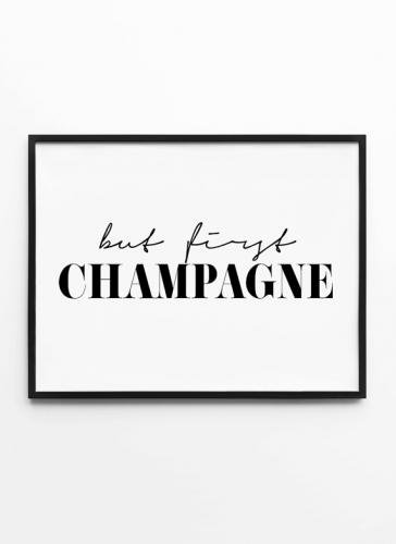 MOTTOS PRINT | BUT FIRST CHAMPAGNE | A3 アートプリント/ポスター【アウトレット】