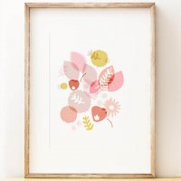 SHAPE COLOUR PATTERN | SPRINGTIME - floral wall art | A3 アートプリント/ポスターの商品画像