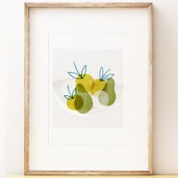 SHAPE COLOUR PATTERN | Apple Bowl - wall art | A3 アートプリント/ポスターの商品画像