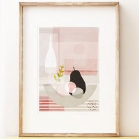 SHAPE COLOUR PATTERN | Black Pear - contemporary still life art | A3 アートプリント/ポスターの商品画像