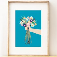 SHAPE COLOUR PATTERN | Blooms - floral wall art | A3 アートプリント/ポスターの商品画像