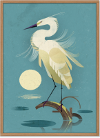 HUMAN EMPIRE | DIETER BRAUN | LITTLE EGRET POSTER | ポスター (50x70cm)