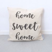 LINEN AND IVORY | HOME SWEET HOME  PILLOW COVER | クッションカバー