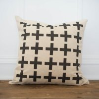 LINEN AND IVORY | MULTIPLE SWISS CROSS  PILLOW COVER | クッションカバー