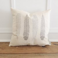 LINEN AND IVORY | FEATHER PILLOW COVER | クッションカバー