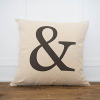 LINEN AND IVORY | AMPERSAND PILLOW COVER | クッションカバー