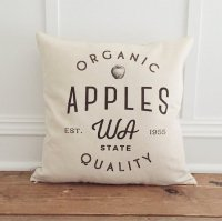 LINEN AND IVORY | ORGANIC APPLE PILLOW COVER | クッションカバー