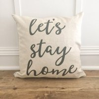LINEN AND IVORY | LET'S STAY HOME PILLOW COVER | クッションカバー