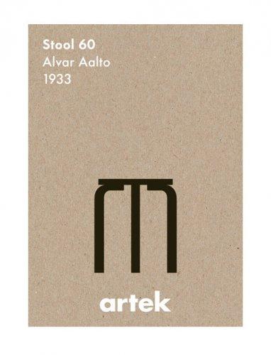 ARTEK | STOOL60 BK | アートプリント/...