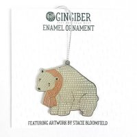 【SALE 30%オフ】GINGIBER | POLAR BEAR ENAMEL ORNAMENT | オーナメント