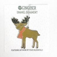 GINGIBER | MOOSE ENAMEL ORNAMENT | オーナメント