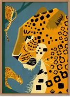 HUMAN EMPIRE | DIETER BRAUN | LEOPARD POSTER | ポスター (50x70cm)【北欧 インテリア リビング アニマル】の商品画像